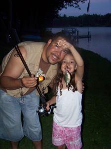Daddy and Hannah Fishing