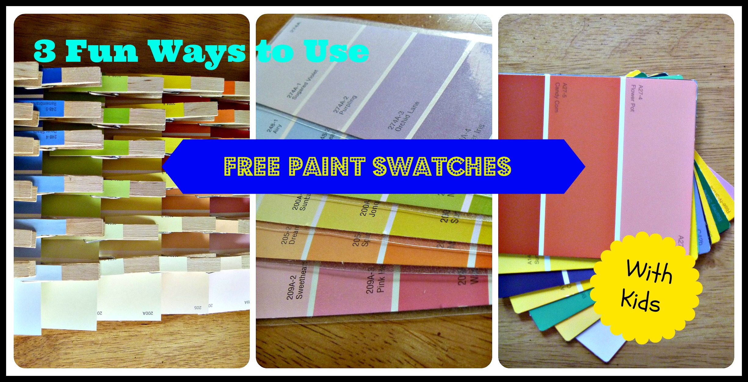 Fun things to do with paint swatches for Things to do on paint