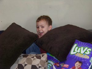 Boys like Jay love castles and fortes to protect, mostly from their older siblings.