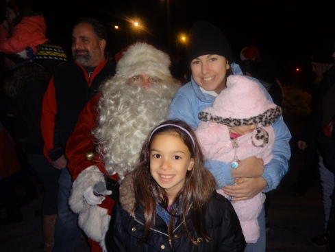 I made a conscious effort to give the camera to my husband so I could get in on this photo with Hannah and Sydney meeting Santa at the Santa Express that visited South Fallsburg last night.