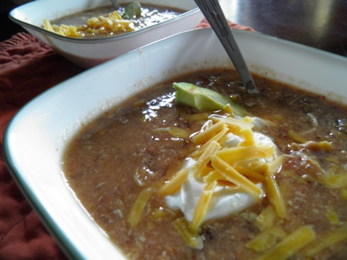 Salsa Chicken and Black Bean Soup