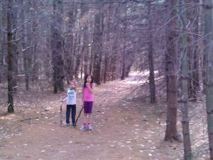 Hannah and Jayden are loving our family hikes.