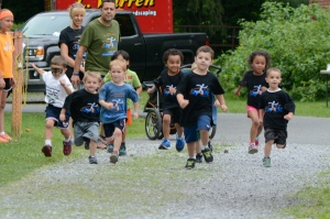 The Kids Fun Run involved children ages 4 and under. Aiden Olivieri from Kingston came in first place for his age group.