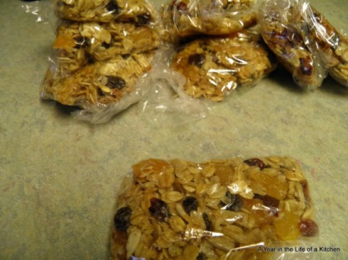 Individual bars, ready for the freezer