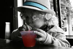 child at restaurant