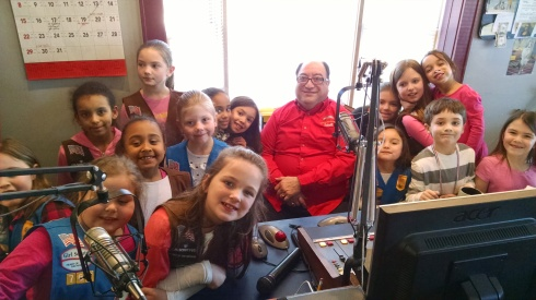 The girls from troop #767 were interviewed by Mike Sakell on Thunder 107 last year about why they liked being a girl scout.