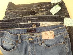 Not only am I not ashamed at shopping thrift and consignment shops, I'm pretty thrilled with the deals I get. I got 4 pairs of jeans for $14 on Salvation Army's family day which is every Wednesday. Most items are half off.