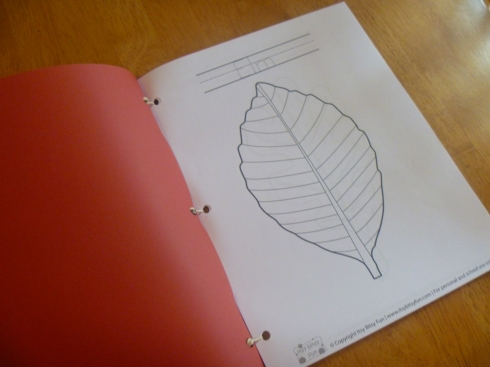 Making a leaf book
