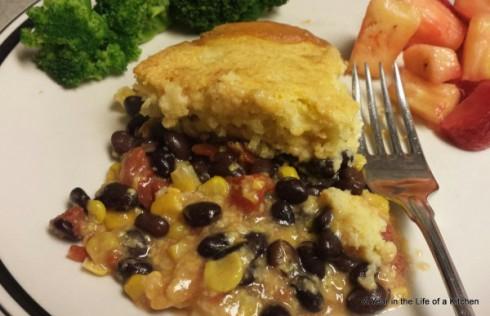 Black bean Cornbread Cobbler