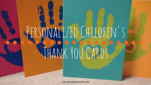 Creating Children's Thank You Cards