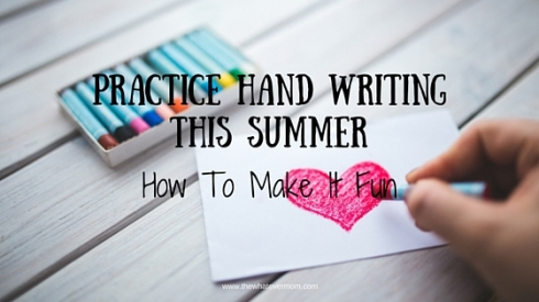 Take The Stress Out of Summer Writing