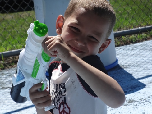 Jay with water gun